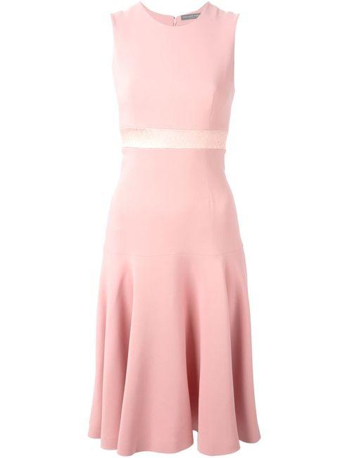 Alexander McQueen   Женское Розовое А-Образное Платье