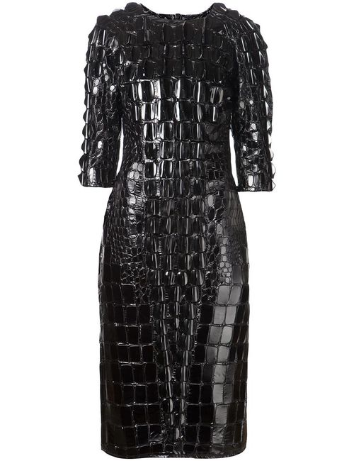 Ktz | Женское Чёрный Scale Effect Embellished Dress From