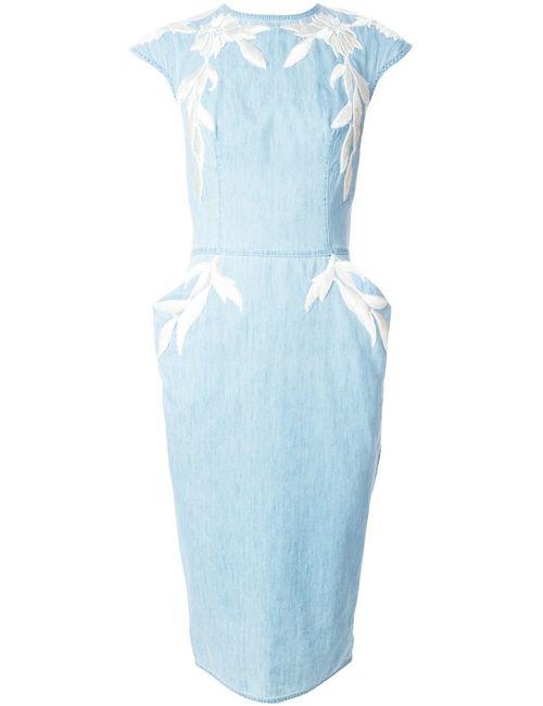 Ermanno Scervino | Женское Cotton Applique Denim Dress From