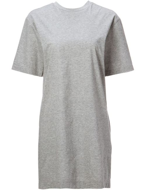 LE CIEL BLEU | Женское Серый Cotton Ruffled Back T-Shirt Dress From