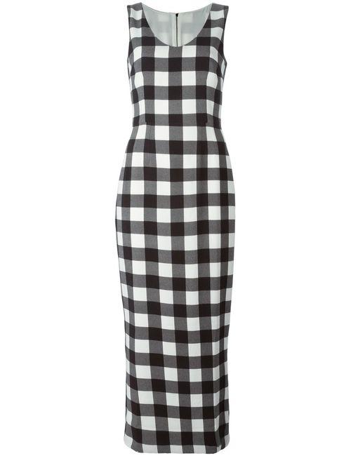 Dolce & Gabbana | Женское And Stretch Silk Blend Long Check Dress