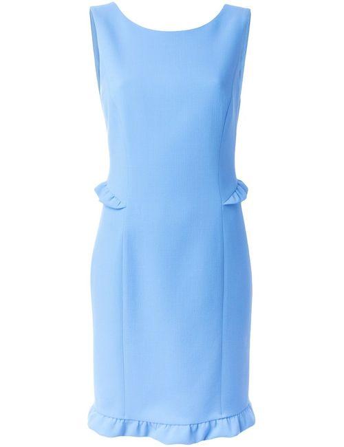 Emilio Pucci   Женское Синее Платье С Волнистым Подолом