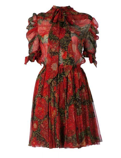 Faith Connexion | Женское Silk Flower Print Pussy Bow Dress From