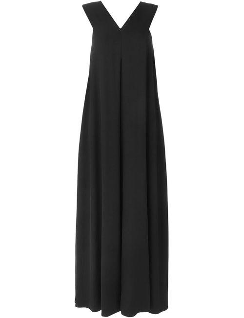 Opening Ceremony   Женское Чёрное Длинное Платье C V-Образным Вырезом