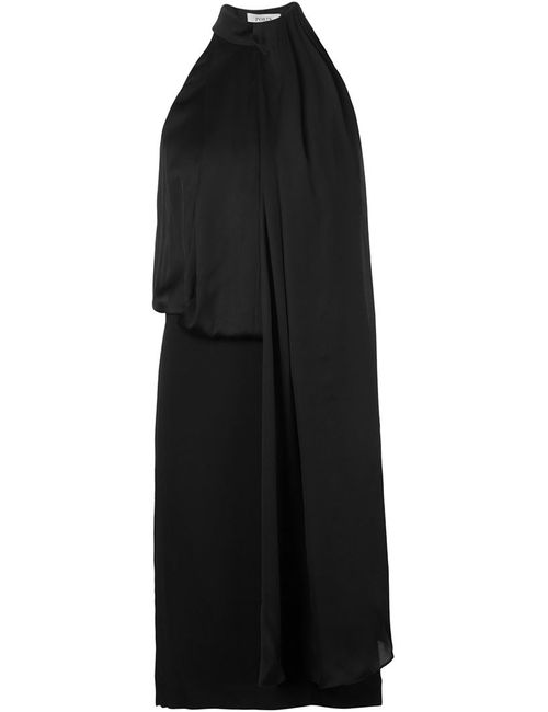 Ports | Женское Чёрное Драпированное Платье Без Рукавов