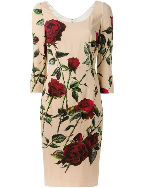 Dolce & Gabbana | Женское Многоцветный Print Fitted Dress