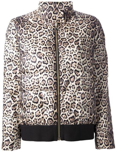 Moncler Gamme Rouge | Женская Nude & Neutrals Стёганая Куртка С Леопардовым Рисунком