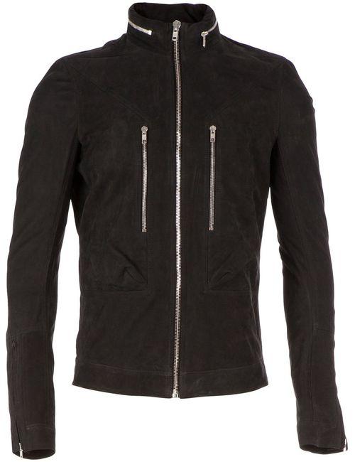 Rick Owens   Мужская Чёрная Куртка На Молнии