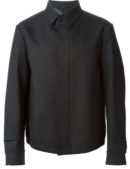 Marni | Мужская Серая Куртка С Потайной Застёжкой