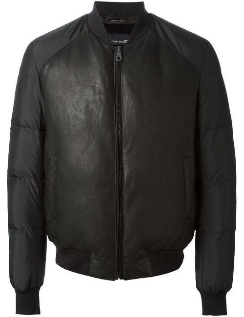 Yves Salomon | Мужская Черный Дутая Куртка Бомбер