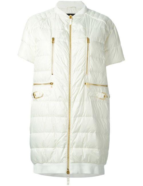 Ermanno Scervino   Женское Белый Padded Short Sleeve Jacket From