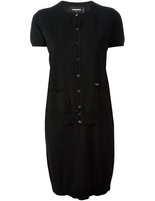 Dsquared2 | Женское Чёрное Платье-Кардиган