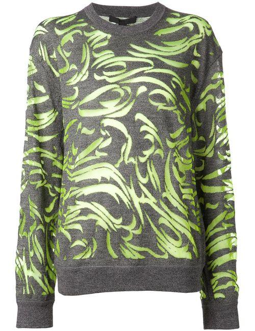 Alexander Wang | Женское Серый Paisley Burnout Pullover Sweater