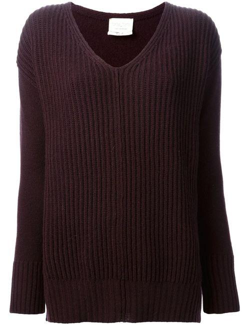 Forte Forte | Женское Розовый Ribbed V-Neck Sweater