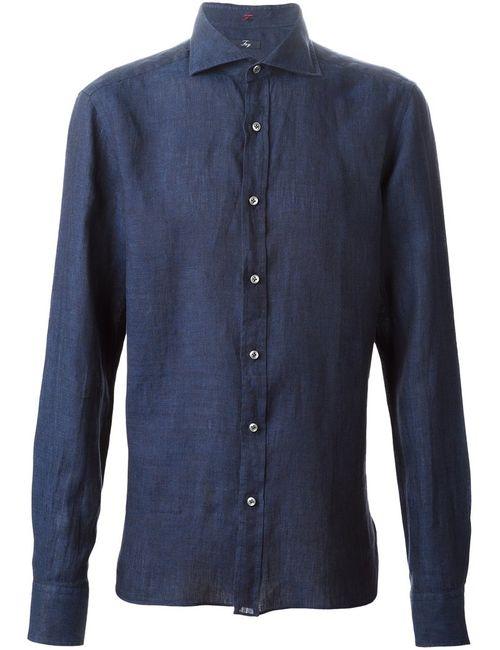Fay | Мужская Синяя Джинсовая Рубашка