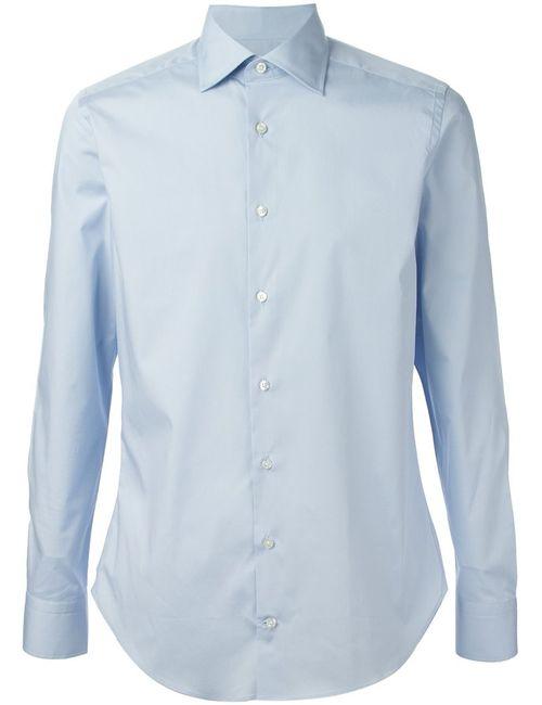 Etro | Мужская Синяя Классическая Рубашка