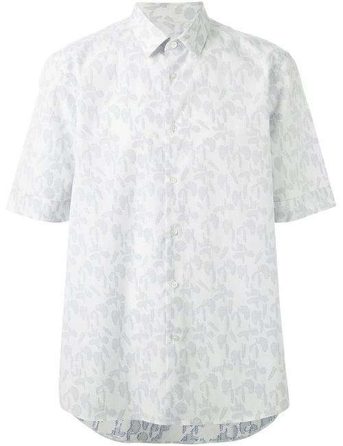 Jil Sander | Мужская Белая Рубашка С Короткими Рукавами