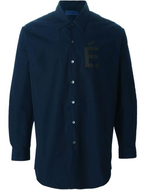 ETUDES | Мужская Синяя Рубашка С Принтом-Логотипом