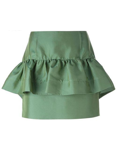 Marni | Женская Зелёная Юбка С Обрками