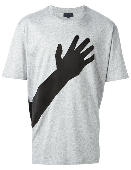 Lanvin | Мужское Серый Cotton Hand Applique T-Shirt From Featuring A