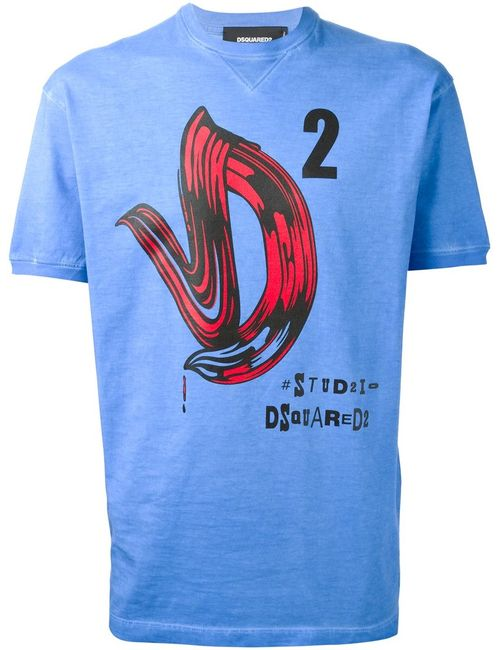 Dsquared2 | Мужское Cotton Printed T-Shirt From Featuring A Crew