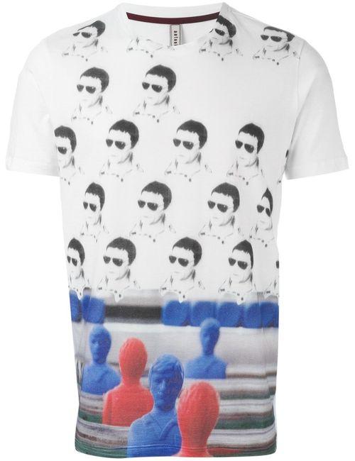 Antonio Marras | Мужское Multicoloured Cotton Foosball Print T-Shirt From