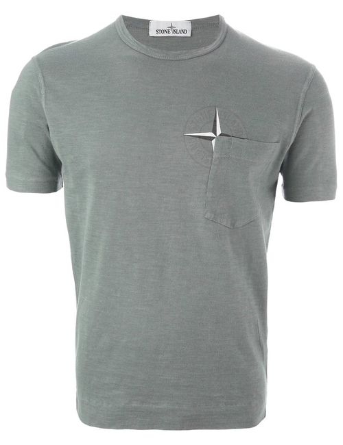 Stone Island   Мужское Cotton Logo Print T-Shirt From