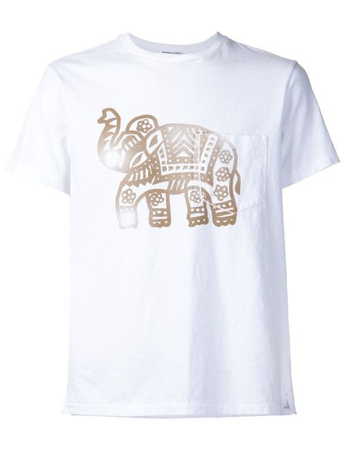 Engineered Garments | Мужское Cotton Elephant Print T-Shirt From
