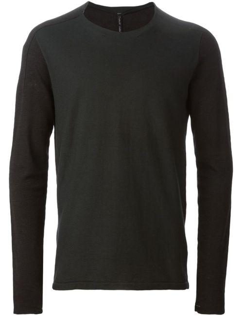 Transit | Мужское Linen And Cotton Blend Long Sleeve T-Shirt
