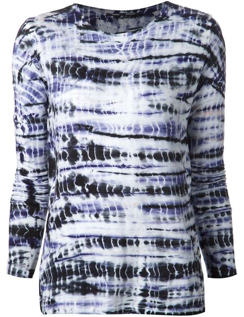 Proenza Schouler   Женское Многоцветный And Cotton Tie Dye Print T-Shirt From