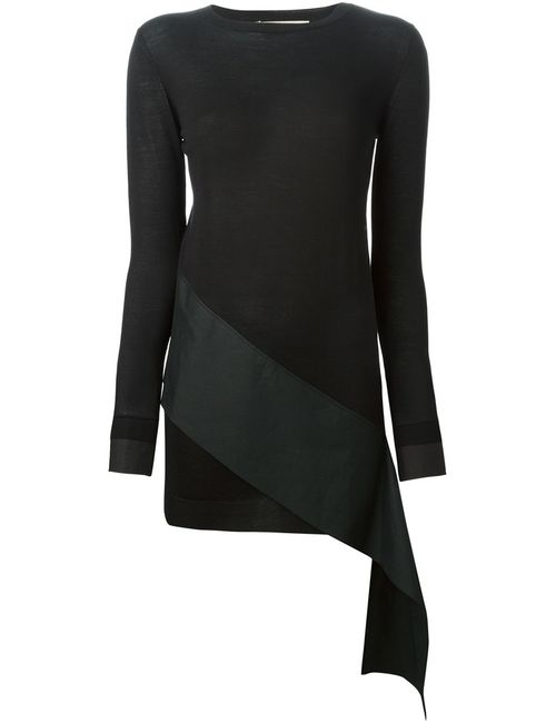 Marni | Женское Чёрный Silk And Cotton Asymmetric Detail Sweater From