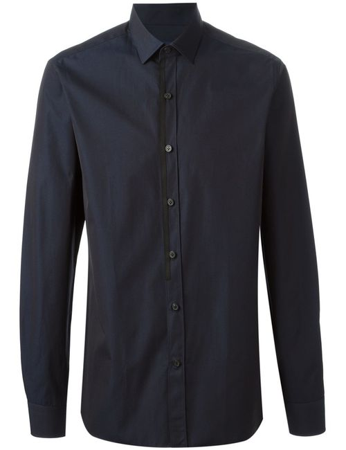 Lanvin | Мужская Синяя Классическая Рубашка