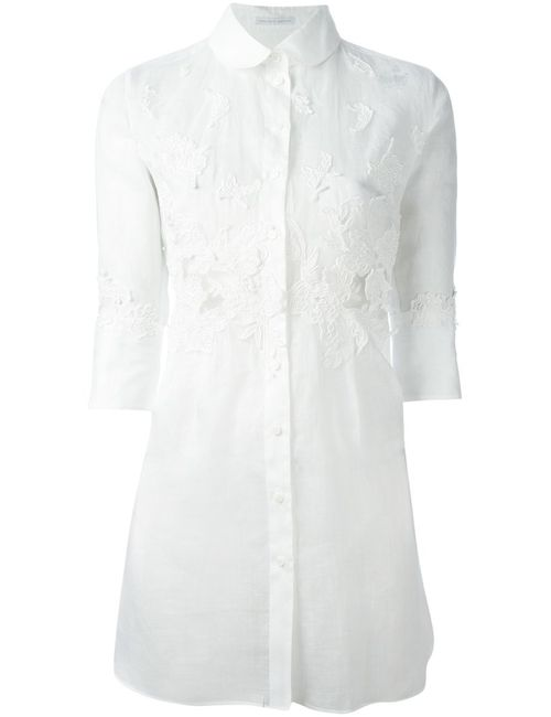 Ermanno Scervino | Женское Ramie Blend Long Embroidered Shirt From