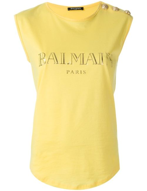 Balmain | Женское Желтый Sleeveless Top