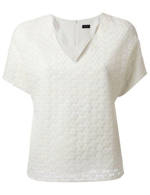 Joseph | Женское Белый Off Silk Blend Lace Top From