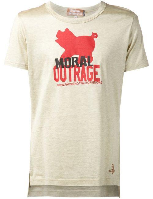 Vivienne Westwood | Женская Nude & Neutrals Футболка Moral Outrage