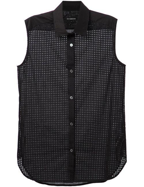 Tess Giberson | Женская Чёрный Сетчатая Рубашка Без Рукавов