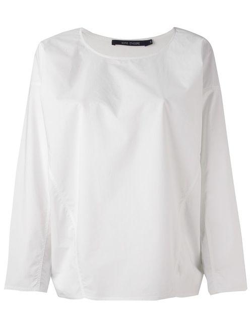 Sofie D'Hoore | Женская Белая Блузка С Открытыми Видными Швами
