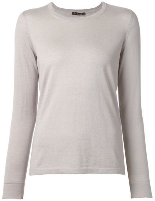 Loro Piana | Женское Серый Cashmere Fine Knit Sweater From