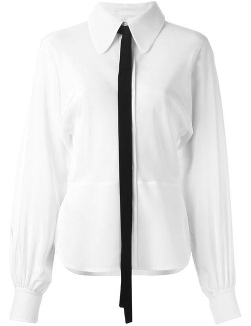 Chloe | Женская Белая Рубашка С Галстуком