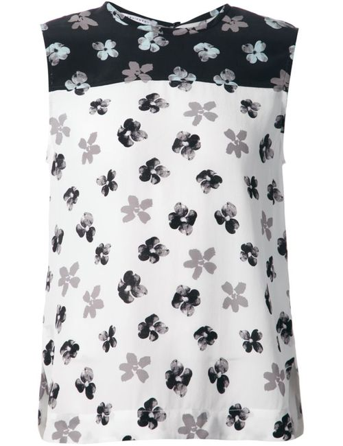 Equipment | Женское Белый Multicoloured Silk Flower Print Top From