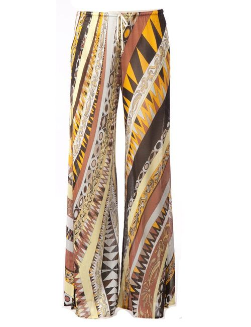 Emilio Pucci | Женское Оранжевый Multicoloured Wide Leg Printed Trousers From