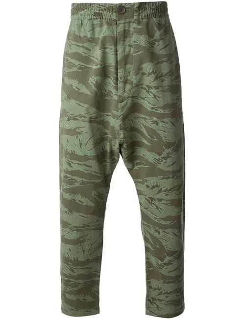 Golden Goose | Мужское Cotton Camouflage Drop-Crotch Trousers From