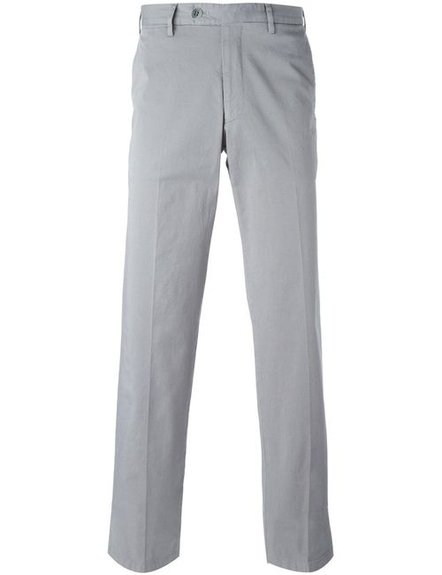 Canali   Мужское Cotton Blend Straight Fit Trousers From