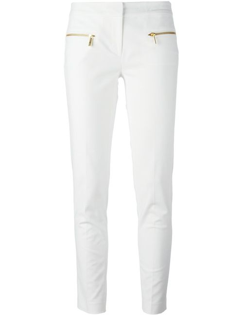 Michael Michael Kors | Женское And Tone Stretch Cotton Zip Detail Slim