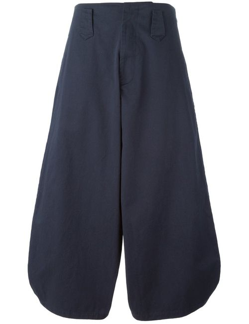 SOCIETE ANONYME | Женское Navy Cotton High Waist Wide Leg Trousers