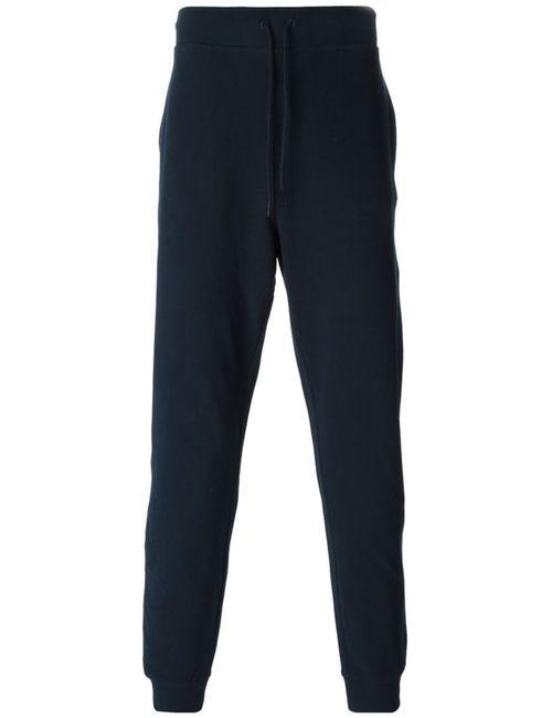 A.P.C.   Мужское Синий Dark Navy Cotton Blend Textured Track Pants