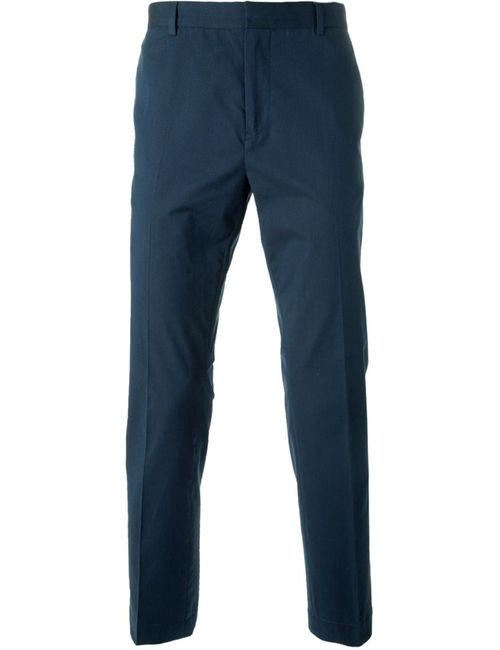 Mauro Grifoni | Мужское Синий Cotton Slim Chino Trousers From