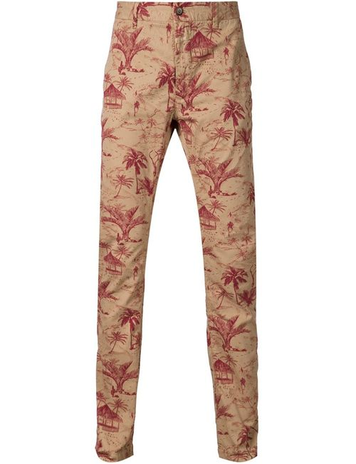 Closed | Мужское Nude & Neutrals Printed Chino Trousers