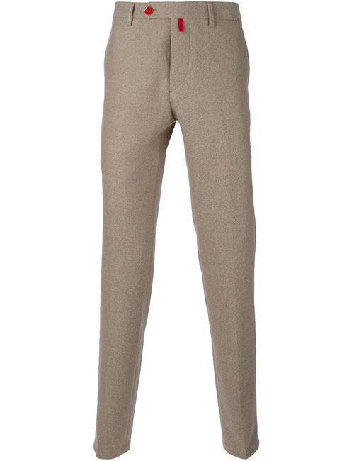 Kiton | Мужское Nude & Neutrals Straight Fit Trousers